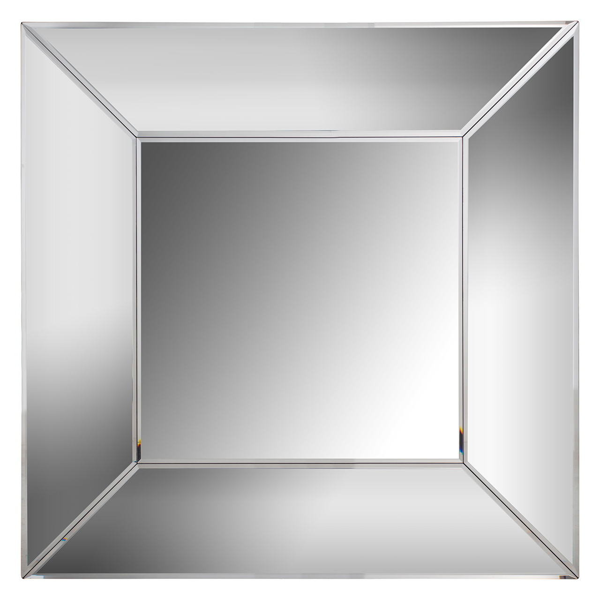 Spiegel Met Spiegelrand.Spiegel Benton Vierkant Met Spiegelrand